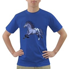 Blue Horse Mens' T Shirt (colored) by gatterwe