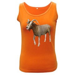 Goat 3 Womens  Tank Top (dark Colored) by gatterwe