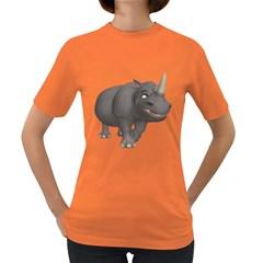Rhino 3 Womens' T Shirt (colored) by gatterwe