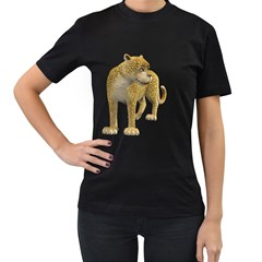 Leopard 1 Womens' T Shirt (black)