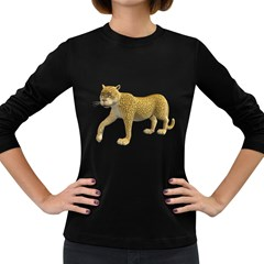 Leopard 2 Womens' Long Sleeve T Shirt (dark Colored) by gatterwe