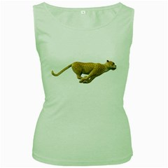 Leopard 3 Womens  Tank Top (green) by gatterwe