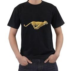 Leopard 3 Mens' T Shirt (black) by gatterwe