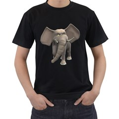Elephant 1 Mens' Two Sided T Shirt (black) by gatterwe
