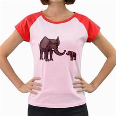Elephant 3 Women s Cap Sleeve T Shirt (colored) by gatterwe