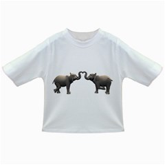 Elephant 4 Baby T Shirt by gatterwe