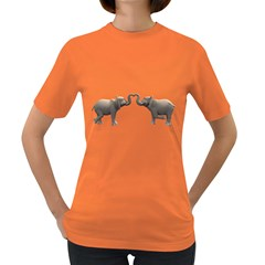 Elephant 4 Womens' T Shirt (colored) by gatterwe
