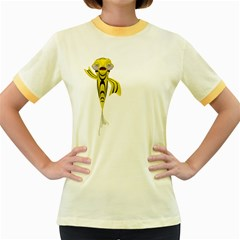 Fish 1 Womens  Ringer T Shirt (colored) by gatterwe