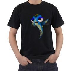 Fish 3 Mens' T Shirt (black) by gatterwe