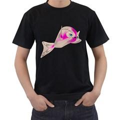 Fish 4 Mens' T Shirt (black) by gatterwe