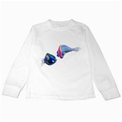 Fish 5 Kids Long Sleeve T Shirt by gatterwe