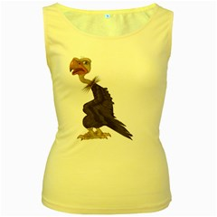 Vulture 1 Womens  Tank Top (yellow) by gatterwe