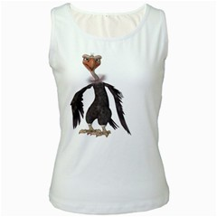 Vulture 2 Womens  Tank Top (white) by gatterwe