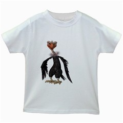 Vulture 2 Kids' T Shirt (white) by gatterwe