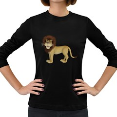 Lion 1 Womens' Long Sleeve T Shirt (dark Colored) by gatterwe
