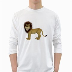 Lion 1 Mens' Long Sleeve T Shirt (white) by gatterwe