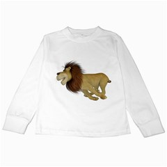 Lion 2 Kids Long Sleeve T Shirt by gatterwe
