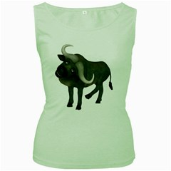 Buffalo 1 Womens  Tank Top (green) by gatterwe