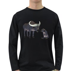 Buffalo 2 Mens' Long Sleeve T Shirt (dark Colored) by gatterwe