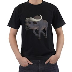 Buffalo 3 Mens' Two Sided T Shirt (black) by gatterwe