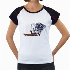 Native Snow Leopard 2 Women s Cap Sleeve T Shirt (white) by gatterwe