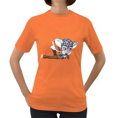 Native Snow Leopard 2 Womens' T Shirt (colored) by gatterwe