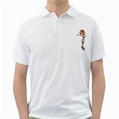 Skater Girl 2 Mens  Polo Shirt (white) by gatterwe