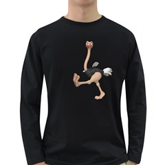 Ostrich 1 Mens' Long Sleeve T Shirt (dark Colored) by gatterwe