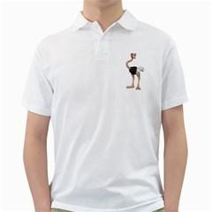 Ostrich 2 Mens  Polo Shirt (white) by gatterwe