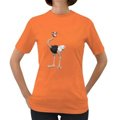 Ostrich 2 Womens' T Shirt (colored) by gatterwe