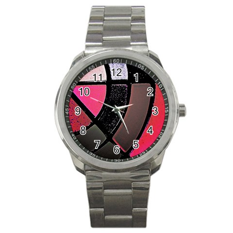 Pink Metal Watch By Christine Carter   Sport Metal Watch   Pf1qf9vh3j21   Www Artscow Com Front