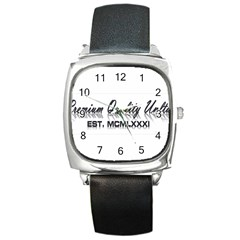 Banner Square Leather Watch