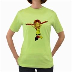 Naughty Girl 1 Womens  T Shirt (green) by gatterwe