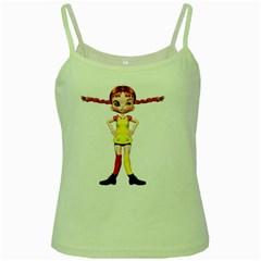 Naughty Girl 2 Green Spaghetti Tank by gatterwe