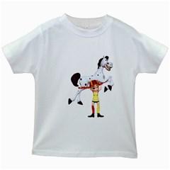 Naughty Girl 3 Kids' T Shirt (white) by gatterwe