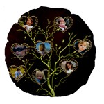 Family Tree 18  Premium Round Cushion - Large 18  Premium Round Cushion
