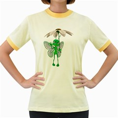 Fly 4 Womens  Ringer T Shirt (colored) by gatterwe