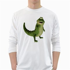 Toon Croco Mens' Long Sleeve T Shirt (white) by gatterwe