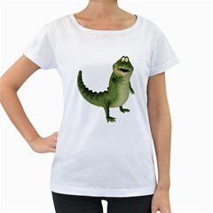 Toon Croco Womens' Maternity T Shirt (white)
