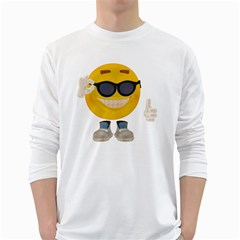 Holiday Smiley Mens' Long Sleeve T Shirt (white) by gatterwe