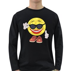 Holiday Woman Smiley Mens' Long Sleeve T Shirt (dark Colored) by gatterwe