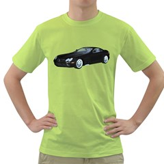 Black Sport Car Mens  T Shirt (green) by gatterwe