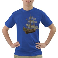 Pirate Ship 1 Mens' T Shirt (colored) by gatterwe