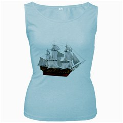 Ship 1 Womens  Tank Top (baby Blue) by gatterwe