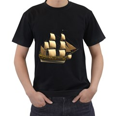 Ship 3 Mens' Two Sided T Shirt (black) by gatterwe