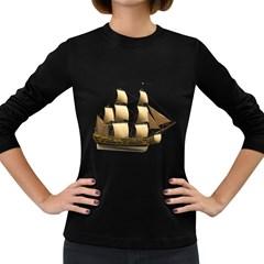 Ship 3 Womens' Long Sleeve T Shirt (dark Colored) by gatterwe