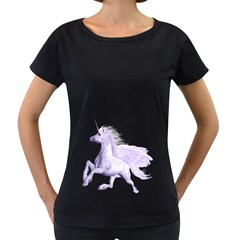 Purple Pegasus Womens' Maternity T Shirt (black) by gatterwe