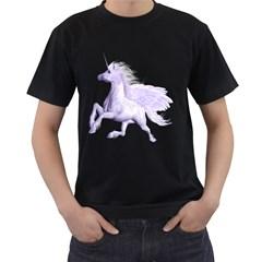Purple Pegasus Mens' T Shirt (black) by gatterwe