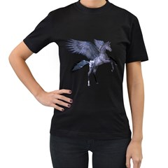 Flying Pony 1 Womens' Two Sided T Shirt (black) by gatterwe