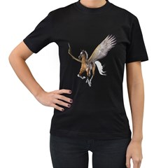 Flying Pony 2 Womens' Two Sided T Shirt (black) by gatterwe